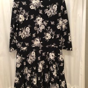 Agnes & Dora Curie Dress Black/White XL